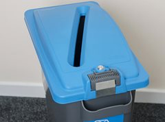 Eco Sort Maxi Confidential Bin with Lockable Lid