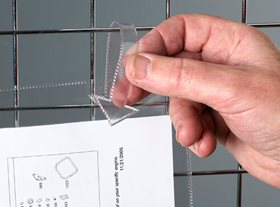 Clear Tie-On Document Pockets