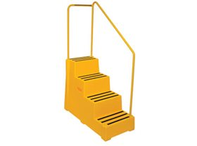 Premium Safety Step with Handrail