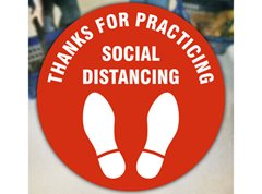 Thank You For Socially Distancing Floor Stickers (Pack of 10)