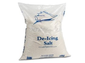 12 bags of 25Kg White De Icing Salt