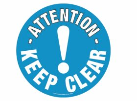 Floor Graphic - Attention Keep Clear