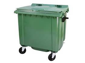 1100 Litre Wheeled Bin with Flat Lid