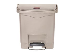 Rubbermaid Slim Jim 15L Resin Front Step On Pedal Bin