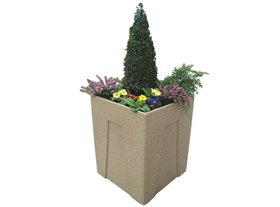 Square Recycled Plastic Planter