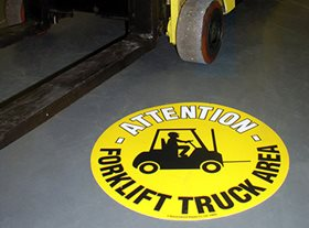 Floor Graphic - Forklift Truck Area