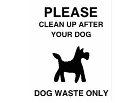Dog Fouling Stickers  (Pack of 50)