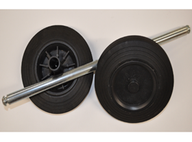 Wheels & Axle Set for Wheeled Bins