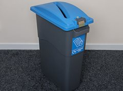 EcoSort Midi Confidential Recycling Bin (Blue Secure Lid)