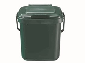 7 Litre Green Kitchen Caddy
