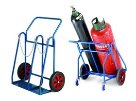 Oxygen Propane Cylinder Trolley with Rear Wheels