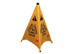 Rubbermaid Pop Up Cone Multilingual Caution Symbol (73cm)