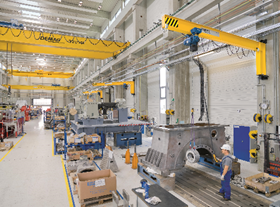 I-Beam Wall Mounted Slewing Jib Crane