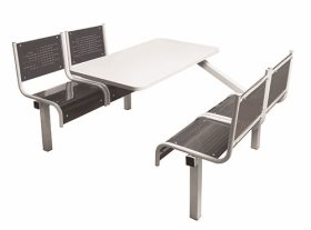 Spectrum 4 Seater Single Entry Canteen Furniture