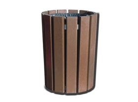 Plaswood Round Open Top Litter Bin