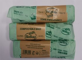 8 Litre BioBags - 3 rolls of 30 bags